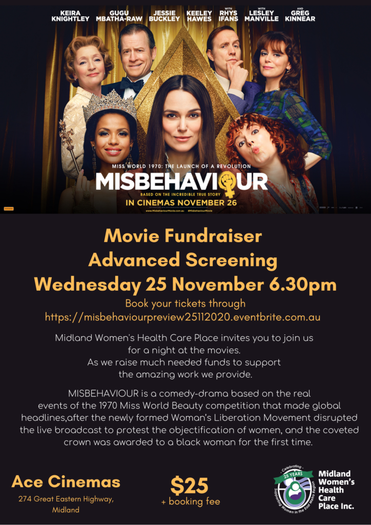 Fundraising Movie Night MISBEHAVIOUR